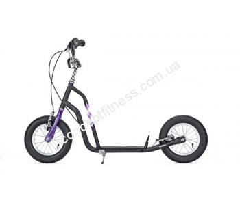 Самокат Yedoo Wzoom black violet 03-907