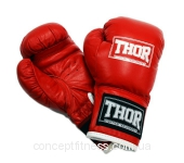 Перчатки Thor Junior 513 Leather Red 10 oz