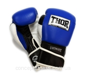 Перчатки Thor Ultimate 551/03 Leather B/B/W 10 oz