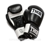 Перчатки Thor Sparring 558 Leather BLK/WH 14 oz