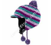 Шлем лыжный Alpina Beanie green-purple A9044-61